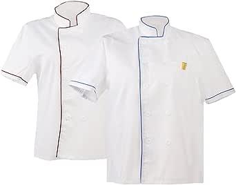 Dolity 2x Chaqueta Chef Mujeres Hombres Camisa de Cocinero Pastelero Chef Principal Ropa - Blanco, Única: Amazon.es: Ropa y accesorios