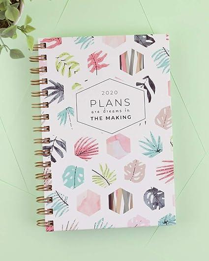 Casterli - Agenda Anual 2020 - Día página, tamaño A5 (Plants)