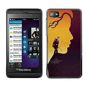 Caucho caso de Shell duro de la cubierta de accesorios de protección BY RAYDREAMMM - Blackberry Z10 - Hung3r Juegos