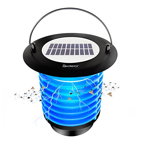 Best Electric Mosquito Killer No.4: Redeo Solar Bug Zapper Fly Trap and Garden Lamp Night Light