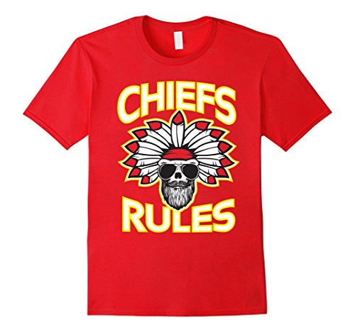 Mens Indian Chief Rules Football Team Fan T Shirt Small (Indian Football Teams)