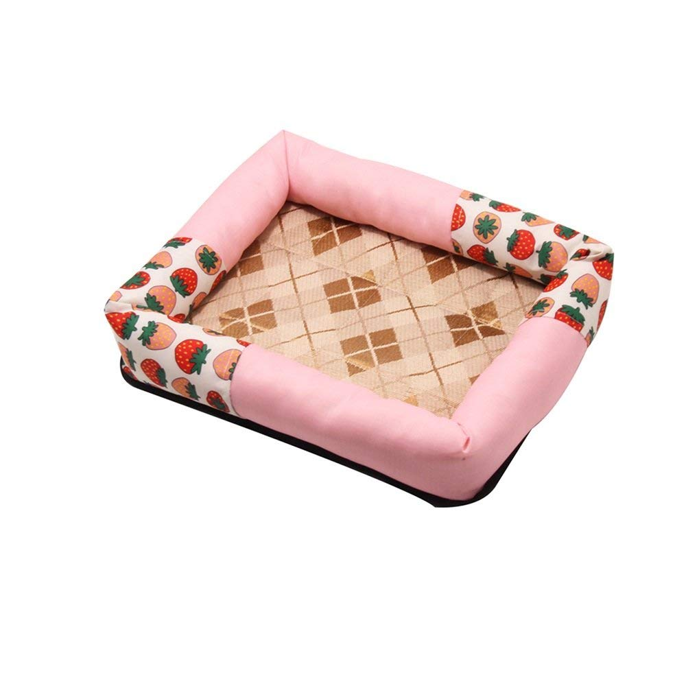 8 SmallPet Bed Doghouse Summer Cool Mat Ice Silk Mat Nest Dog Bed Pet Sleeping Bag Cat Supplies Cat Nest Kennel Resistance to Bite (color   05, Size   Large)
