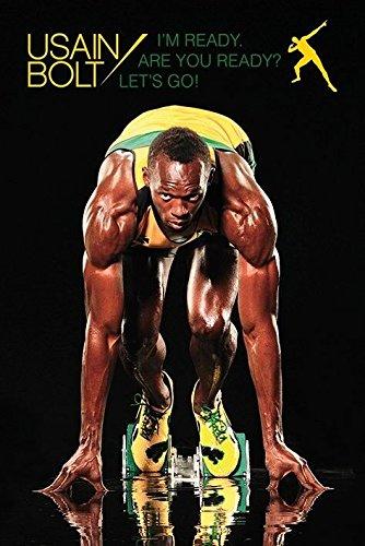 MAHALAXMI ART Usain Bolt Im Ready Art HD Quality Wallpaper Poster Multicolour