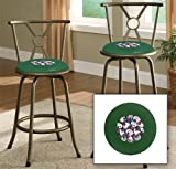 New Bronze Finish 24'' or 29'' Seat Height Bar Stool featuring Poker Cards Themed Logo and your choice of seat cushion viny color!