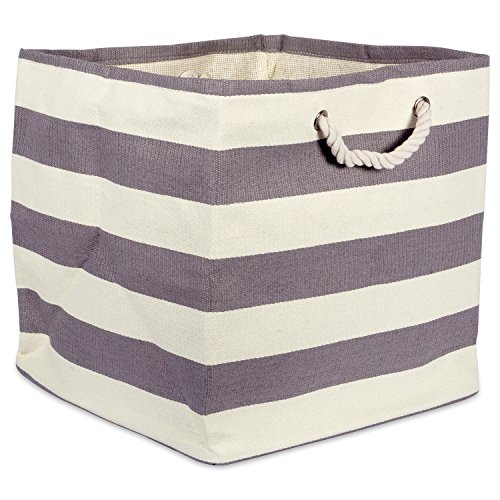 DII Oversize Woven Paper Storage Basket or Bin, Collapsible & Convenient Home Organization Solution for Office, Bedroom, Closet, Toys, & Laundry (Large Square 16x16x16