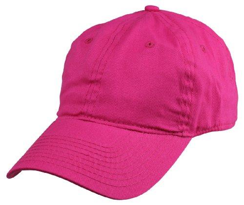 DALIX Womens Lightweight 100% Cotton Cap in  Hot Pink (Velcro (Lime Green Hat)