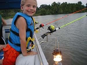 Pontoon boat rail fishing rod holder for Fishing rod holders for pontoon boats