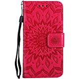 iPhone 8 Plus Cover/iPhone 7 Plus Case PU Leather Wallet Protect Flip Cover 5.5'' (iPhone 8 Plus/iPhone 7 Plus, Rose Red)