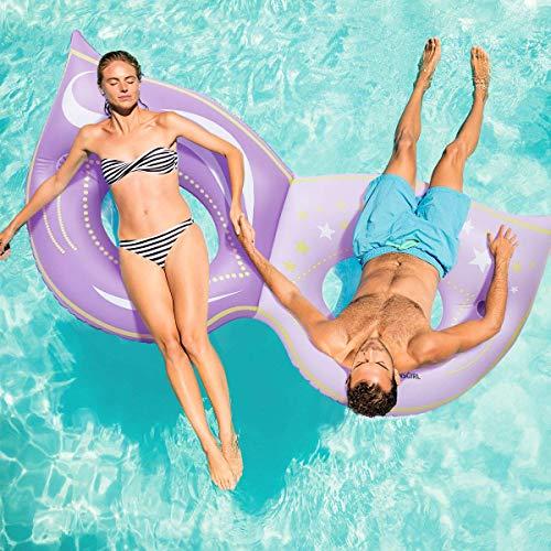 수영장 수레 2 사람 수영장 수레 성인을위한 큰 수영장 FLOATIES 수영장 뗏목 아이들을위한 여름 파티 장난감
