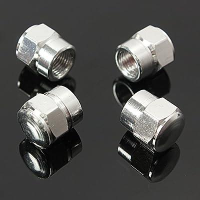 4 tapones antipolvo de aluminio para válvulas de neumáticos de coches, motos, camiones, bicicletas