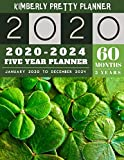 5 year planner 2020-2024: Lucky Monthly Schedule