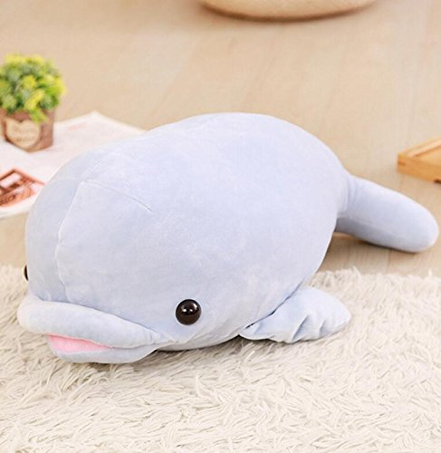 Dalino Soft Stuffed Toys Adorable Dolphin Stuffed Animal Dolphin Present Party Gift Dolphin Pillow Soft and Cuddly Fun Toy 55cm (Blue) by Dalino