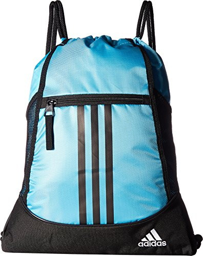 adidas Alliance Ii Sackpack, Bright Cyan/Black/White, One Size