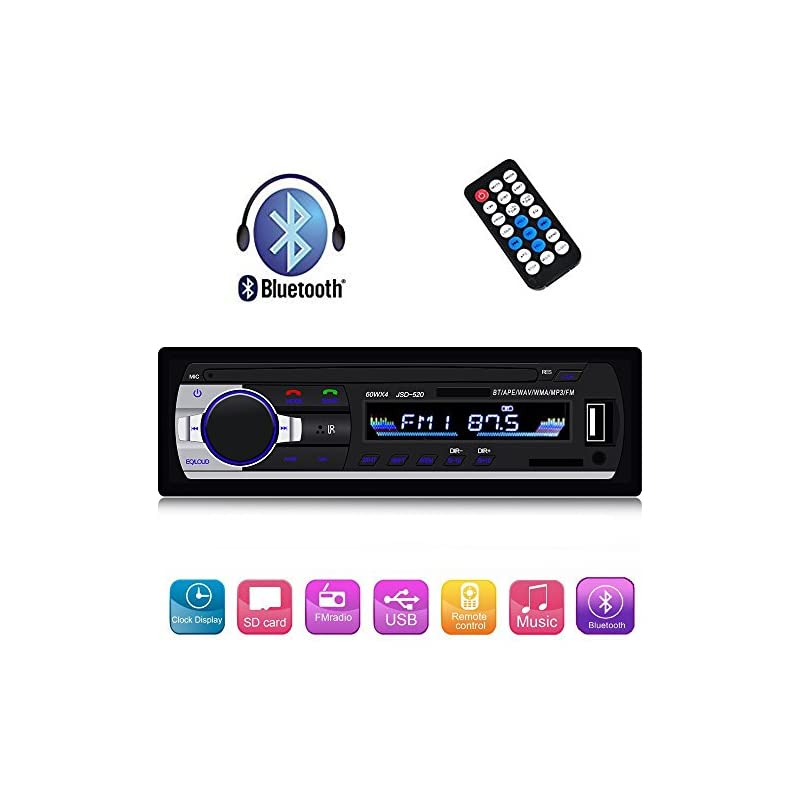 Single Din Car Stereo Reveiver with Blue