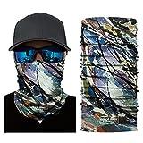 LiPing Microfiber Premium Sunscreen Cycling Motorcycle Head Scarf Neck Warmer Face Mask Ski Balaclava Headband Powerful UV-blocking Spf (G)