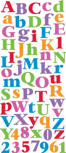 Sticko EK Success, Multicolor Alphabet Sticker