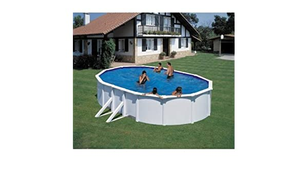 FEELING 500 x 300 x 120 cm pool-Set blanco Stahlmatel con muchos ...