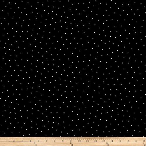 Maywood Studio Sweet Pea Flannel Simple Dots Black/White Fabric The (Flannel Maywood Studios)