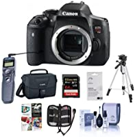Canon EOS Rebel T6i DSLR Camera - Bundle with Camera Case, 64GB Class 10 SDXC Card, Cleaning Kit, Tripod, Memory Wallet, Remote Shutter Trigger - Sofware Package - Screen Protector