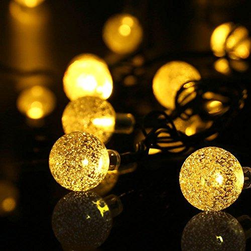 qedertek globe outdoor solar string lights 20ft 30 led fairy import it all. Black Bedroom Furniture Sets. Home Design Ideas