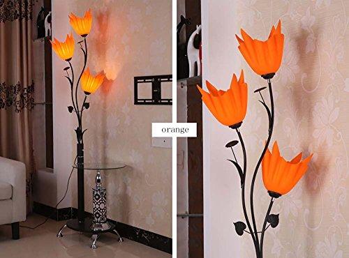 Modern Chinese Simple Floor Lamp Coffee Table Lamp Vertical Floor Table Lamp (Color : Orange)