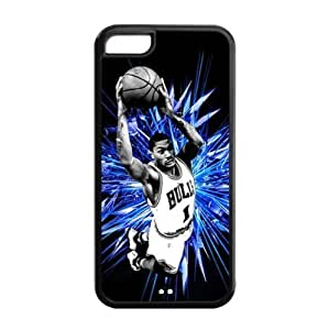 iPhone 5C TPU Cover Case with Chicago Bulls Derrick Rose Image Background Design-by Allthingsbasketball