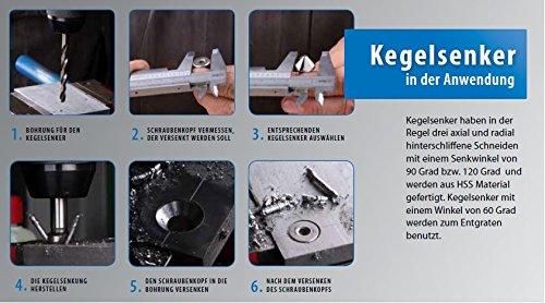 HSSG DIN335 CBN geschliffen PROFI Kegelsenker Entgratsenker 25,0 mm 60/° Grad