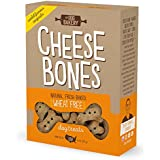 The Dog Bakery Wheat Free Bones Natural Made in the USA Healthy Dogs Treat Biscuits Bone Treats small mini Great For Training limited ingredients crunchy real cheddar (Cheese, Original Size Bones)