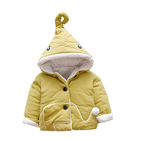Covermason - Abrigo de invierno con capucha para bebé amarillo amarillo Talla:8