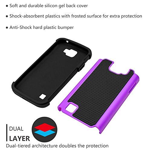 LG Optimus Zone 3 Case,LG Rebel VS425 Case,LG K4 Case,LG Spree  Case,ANLI(TM)[Shockproof Series] Drop Protection Hybrid Dual Layer Armor  Defender Case