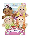 Image of Melissa & Doug Storybook Friends Hand Puppets (Set of 4) - Princess, Fairy, Mermaid, and Ballerina
