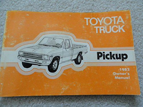 1982 Toyota Truck Owners Manual - In good shape and original