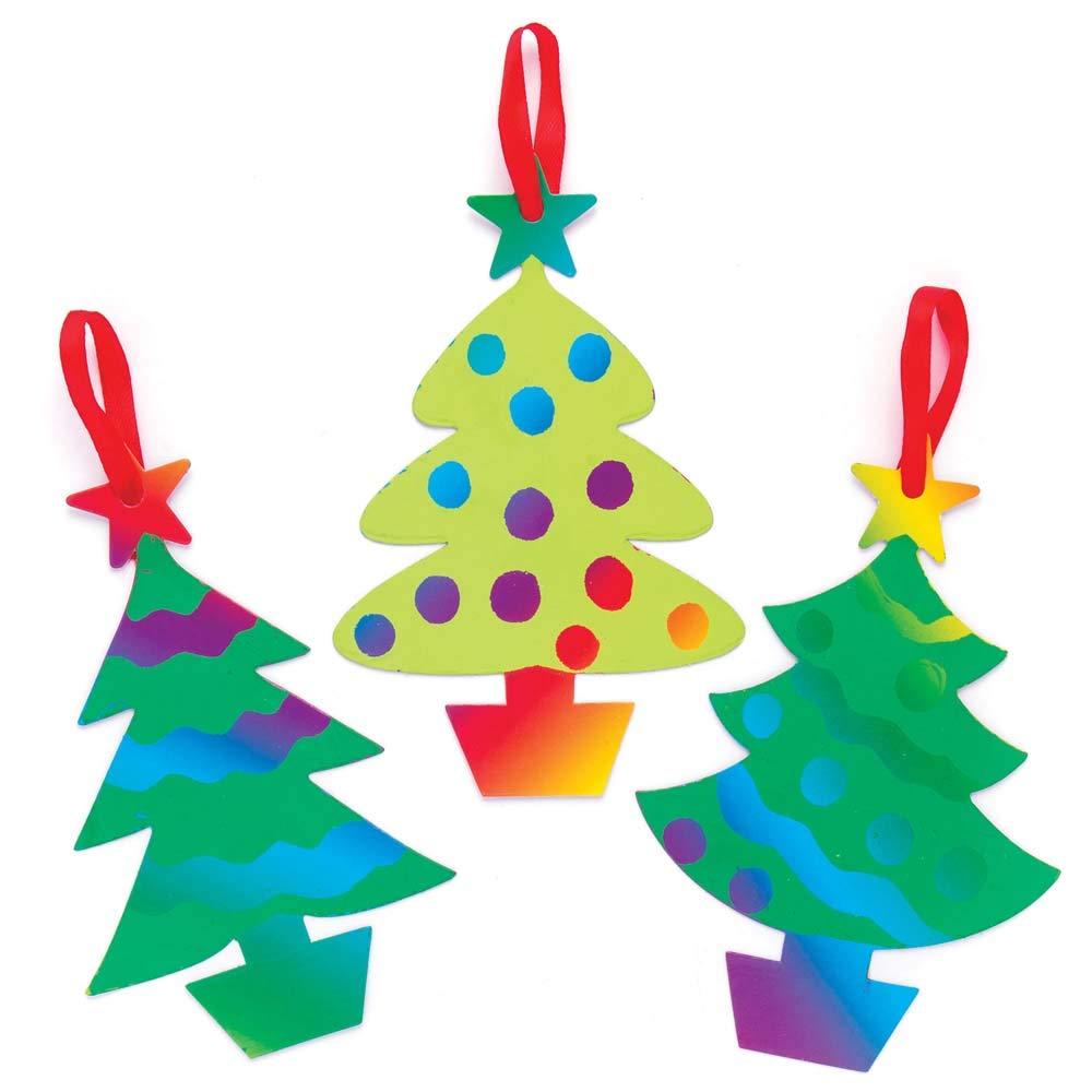 """Baker Ross Weihnachten Kratzbild-Dekoration """"Weihnachtsbaum"""" für ..."""