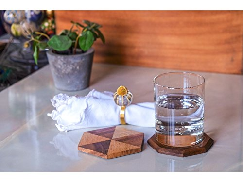 Set of 6 Handcrafted Wooden Coasters