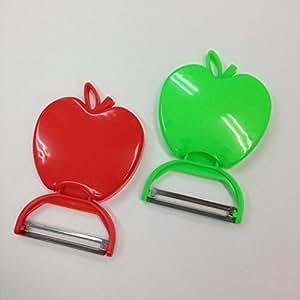 [BC material] cute apple-type fruit peeler Peel Green