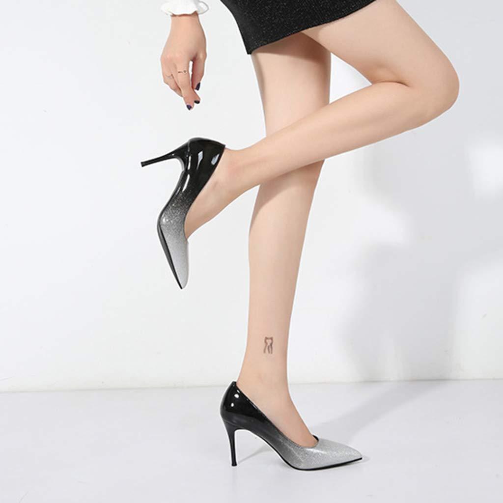 Yra Damen damen Formale Gericht Schuhe Spitz Stilettos Stilettos Stilettos Slip On Abendarbeit Kleid Pump Schuhe 8 cm Lackleder High Heels Schuhe  fe88a1