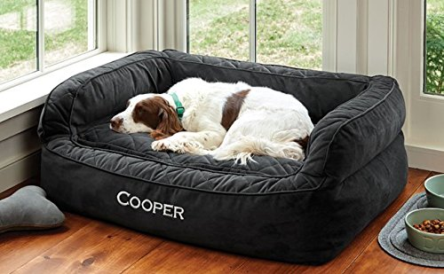 Orvis Comfortfill Couch Dog Bed/Large Dogs 60-90 Lbs, Slate,