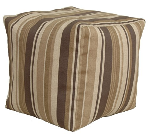 Codson Park 81147 Indoor/Outdoor Pouf, Breezeway Strip Fudge, 18-Inch (Breezeway Furniture)