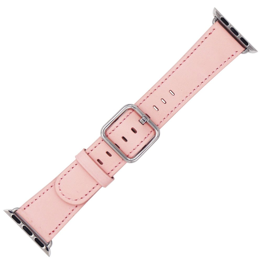 Apple Watch Band 42mm - Genuine Leather iWatch Band Replacement for Apple Watch Series 3/2/1 (Pink)