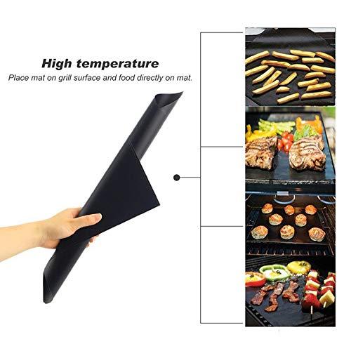 Lovelysunshiny 3pcs/5pcs Non-Stick BBQ Grill Mat Pad Outdoor Picnic Cooking Barbecue Tool by Lovelysunshiny (Image #2)