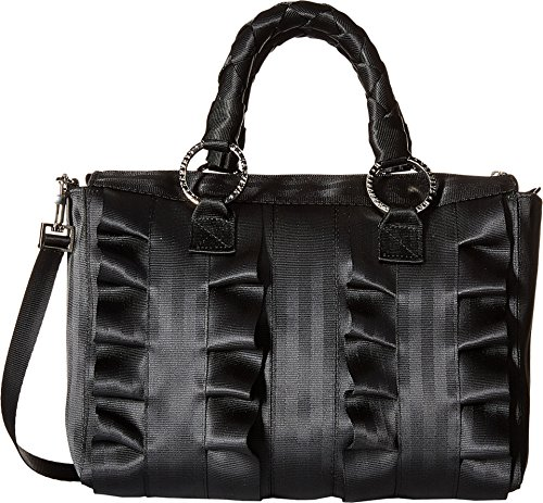 Harveys Seatbelt Bag Women's Lola Satchel Salvage Black Black Satchel by Harvey's