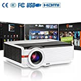 Home Projector-LCD LED Video Projector 4200 Lumens with Free Dual HDMI Support 1080P USB, Home Cinema Theater Projector for TV Laptop iPad iPhone Smartphone Mac Computer Blu-ray Player DVD XBOX