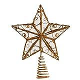 Kurt Adler 6–1/4-inch Oro Alambre Star Treetop