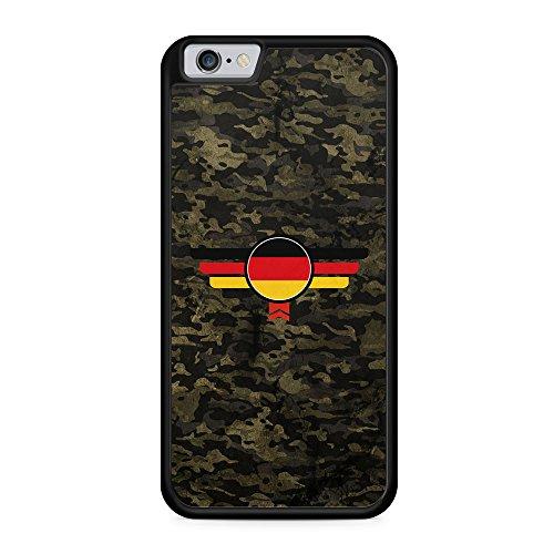 Deutschland Camouflage - Hülle für iPhone 6 & 6s SILIKON Handyhülle Case Cover Schutzhülle - Germany Flagge Flag Military Militär