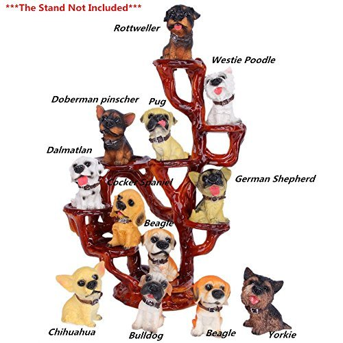 Dog Husky Figurine Siberian - SummerBoom Pack of 12 Poly-Resin Dogs Figurines-Rottweller /Chihuahua /Dalmatlan/Bulldog /Doberman Pinscher/German Shepherd /Cocker Spaniel/Pug/Yorkie/Westie Poodle/Beagle