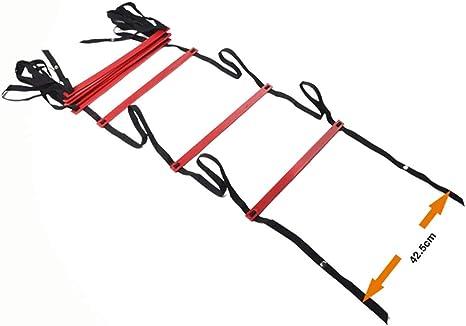 Xin Speed Agility Ladder 4.8M Escalera de Entrenamiento de 9 peldaños para fútbol Speed Basketball Fútbol Fitness Pies Entrenamiento con Bolsa de Transporte: Amazon.es: Deportes y aire libre