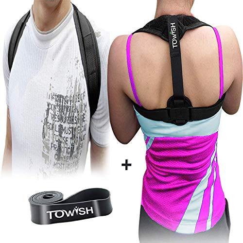 Posture Corrector for Women Men - Best Fully Adjustable Posture Brace - Relief Upper Back Pain - Improve Posture Correct Hunching - Provides Back, Shoulder or Clavicle Support - Unisex Posture Trainer