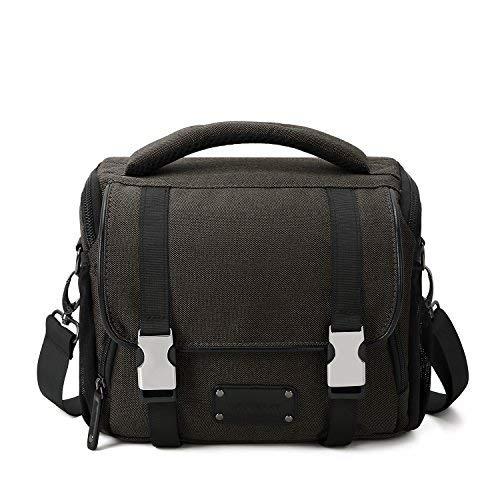 BAGSMART Compact SLR/DSLR Camera Shoulder Bag Camera Case with Waterproof Rain Cover & Trolley Strap Brown [並行輸入品] B07H5GPXTS