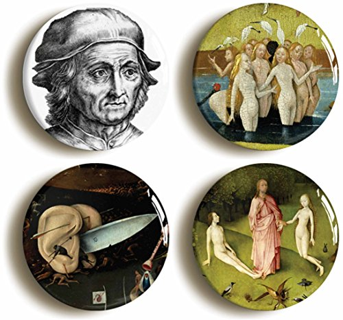 Hieronymus Bosch Button Pin Set (Size is 1inch diameter) Garden of Earthly Delights