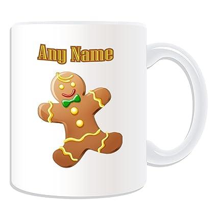 De regalo con mensaje personalizado - muñeco de jengibre taza (molde para hacer una diseño